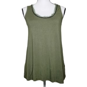 KENNETH COLE NEW YORK ARMY GREEN TANK TOP